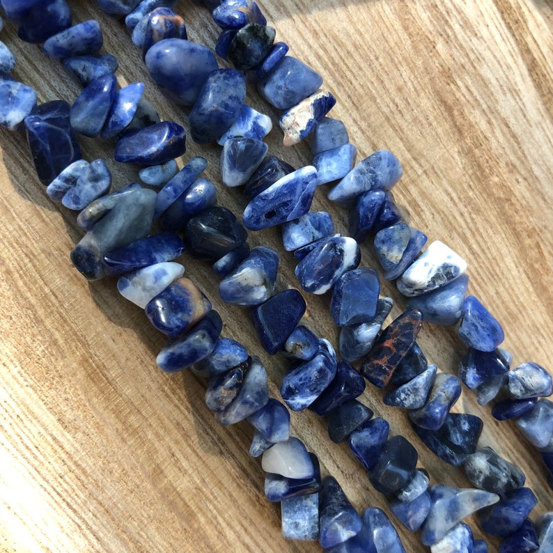 Natural Sodalite Beads, Sodalite Chips Smooth Beads