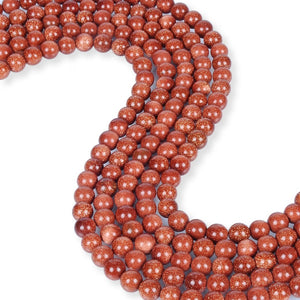 Natural Red Sunstone Beads, Sunstone 8 mm Smooth Beads, Round Shape Sunstone Beads