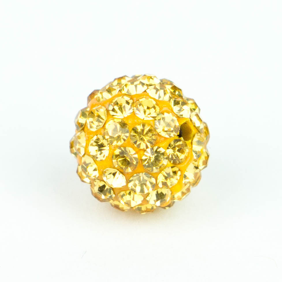 Crystal Pave Beads 8 mm Tangerine