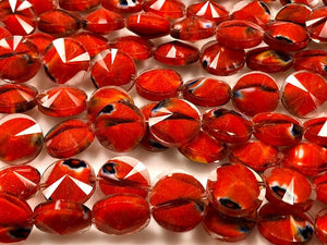 Fire Polish Crystal Beads, Crystal Coin Beads, Crystal 14mm Beads