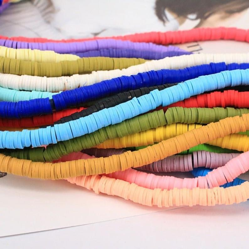 Fimo Clay Beads, Fimo Clay 4mm, 6mm, 8mm Beads 15 Strand