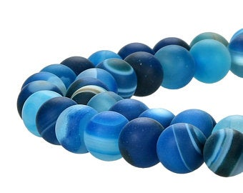 Natural Multi-Color Stripped Agate Smooth Beads, Agate Round 6 mm Beads