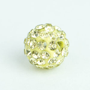 Crystal Pave Beads 10 mm Champagne