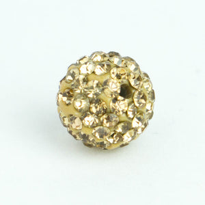 Crystal Pave Beads 12 mm Lt.Topaz