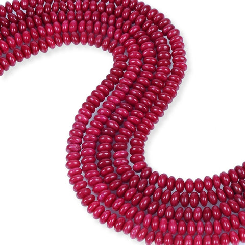 Natural Ruby Jade Beads, Ruby Jade 8 mm Smooth Beads, Roundelle Shape Ruby Jade Beads