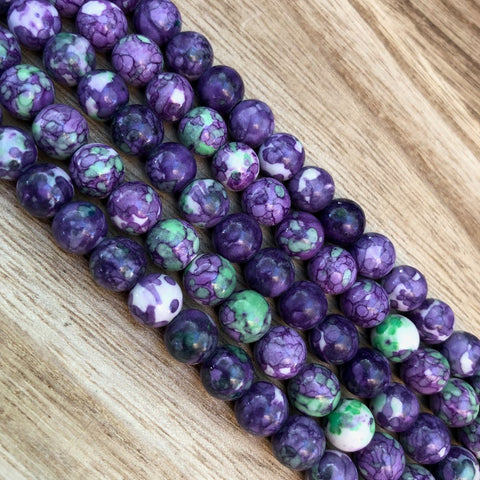 Natural Purple Rain Jasper Beads, Jasper Round Shape Beads, 8 mm Jasper Stone Beads