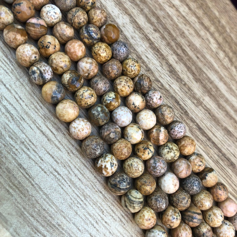 Natural Picture Jasper Beads, Jasper 4 mm Stone Beads, Round Shape Jasper Beads
