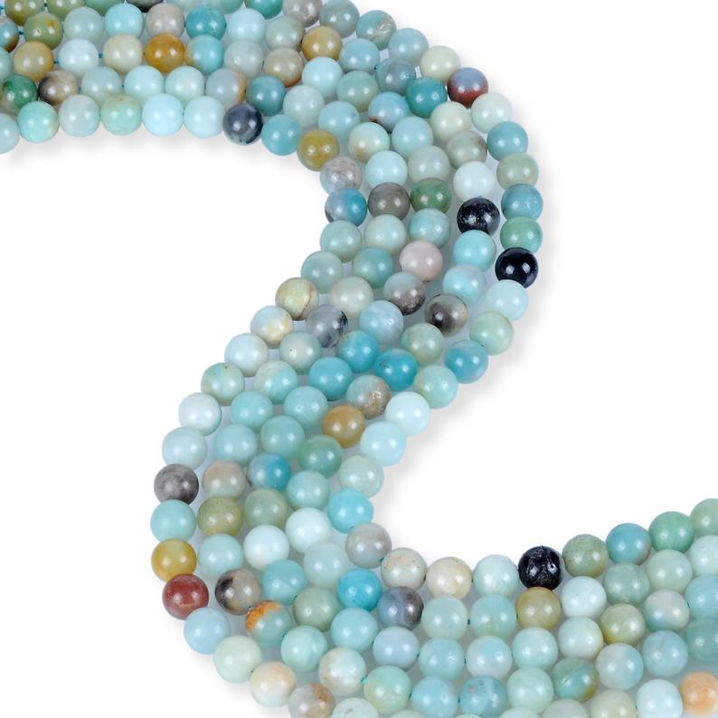 Natural Amazonite Beads, Amazonite Round Shape Beads, 8 mm Smooth Amazonite Beads