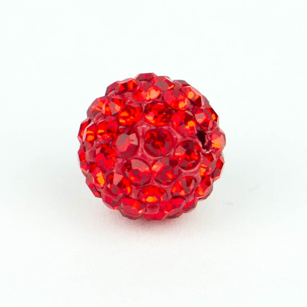 Crystal Pave Beads 12 mm Lt.Siam