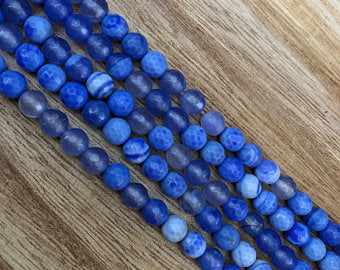 Natural Multi-Color Agate Smooth Beads, Agate 6 mm Round Shape Faceted Beads