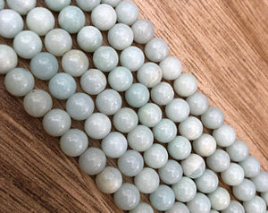 Natural Amazonite Beads, Amazonite Smooth 6, 8, 10 mm Faceted Beads