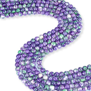 Natural Sand Finish Purple Agate Beads, Round Shape Agate Beads, Purple Agate 6 mm Smooth Beads