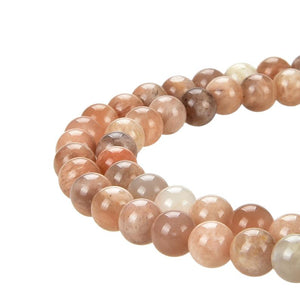 Natural Sunstone Beads, Sunstone Smooth Round 8 mm Beads