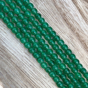 Natural Green Onyx Beads, 4 mm Onyx Stone Beads, Onyx Round Shape Beads