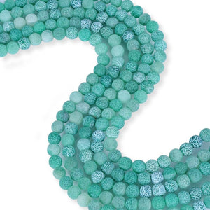 Natural Frosted Green Agate Beads, Agate 8 mm Beads, Round Shape Agate Stone Beads