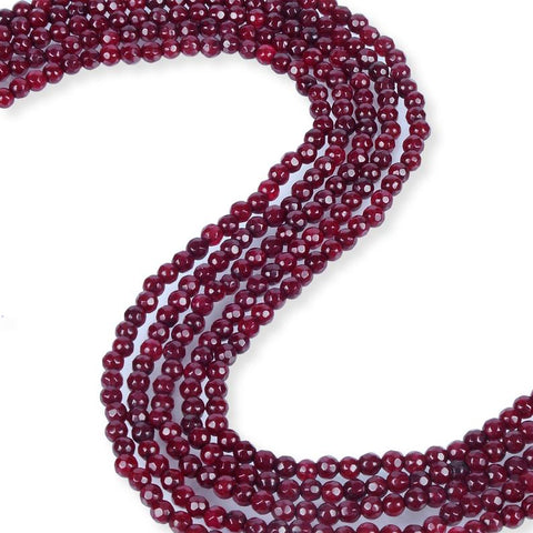 Natural Ruby Jade Beads, Ruby Jade Round Shape Beads, Jade 4 mm Beads