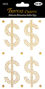 Adhesive Rhinestone Dollar Sign
