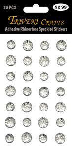 Adhesive Rhinestone Speckled Stickers - Clear