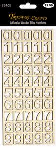 Adhesive Wooden Tiles Numbers