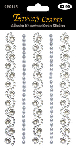 Adhesive Rhinestone Border Stickers # 808