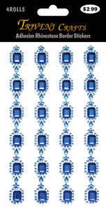 Adhesive Rhinestone Border Stickers # 816