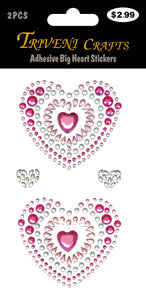 Adhesive Big Heart Stickers