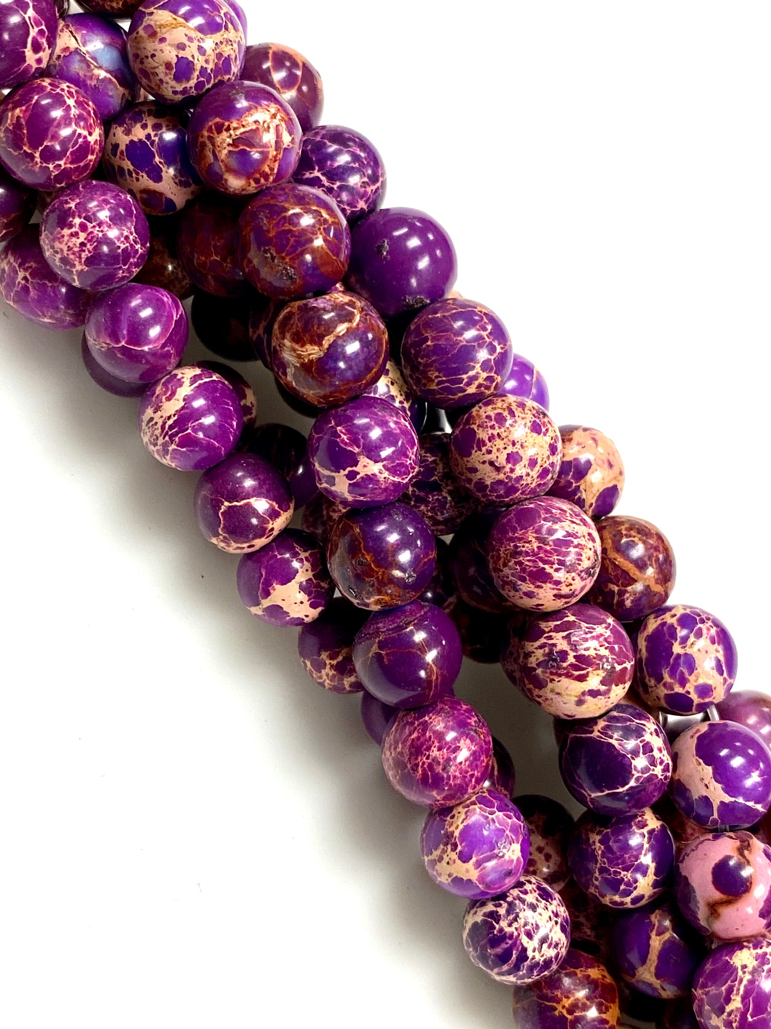 Natural Purple Jasper Beads / Faceted Round Shape Beads / Healing Energy Stone Beads / 8mm 2 Strand Gemstone Beads
