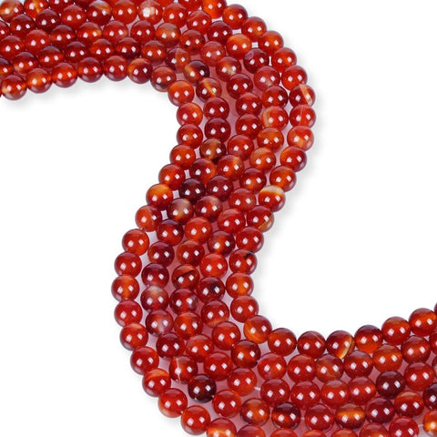 Natural Carnelian Beads, 6 mm Smooth Carnelian Beads, Round Shape Beads