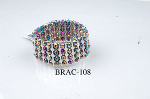 BRAC-108: Crystal Spotted Bar Bracelet