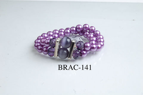 BRAC-141: Glass Pearl Cat Eye Bracelet