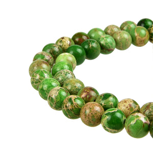 Green Imperial Jasper Gemstone Beads