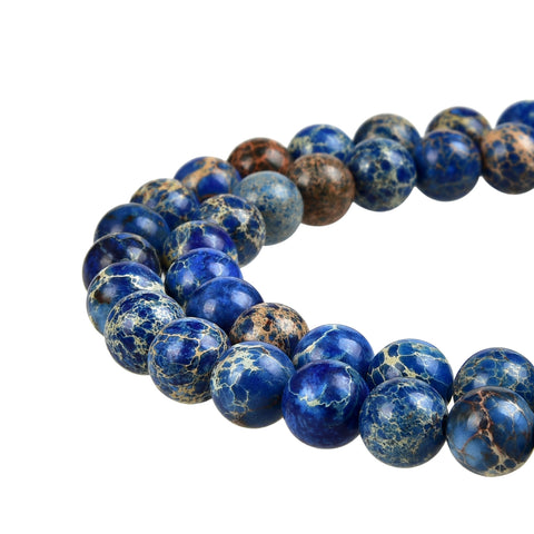 Blue Imperial Jasper Gemstone Beads
