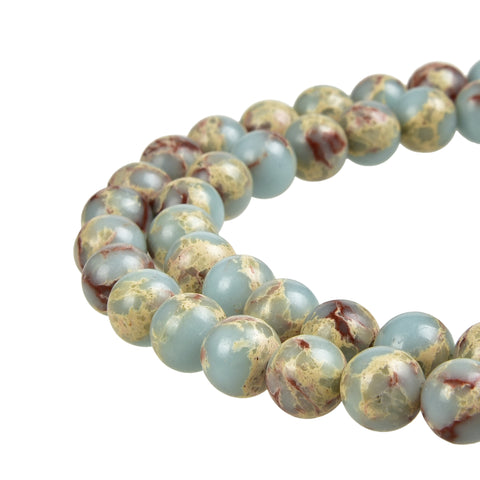 Sky Blue Imperial Jasper Gemstone Beads
