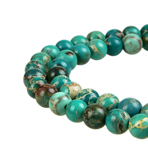 Sea Green Imperial Jasper Gemstone Beads