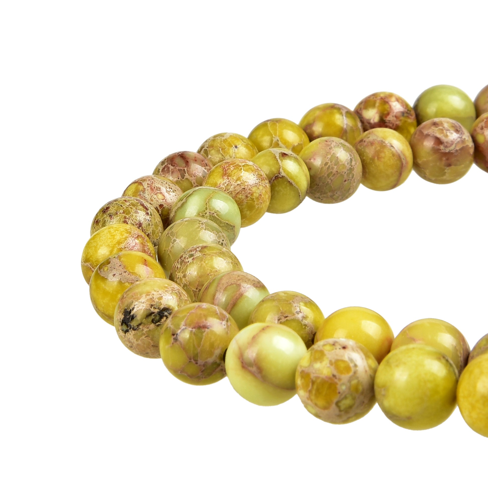 Yellow Imperial Jasper Gemstone Beads
