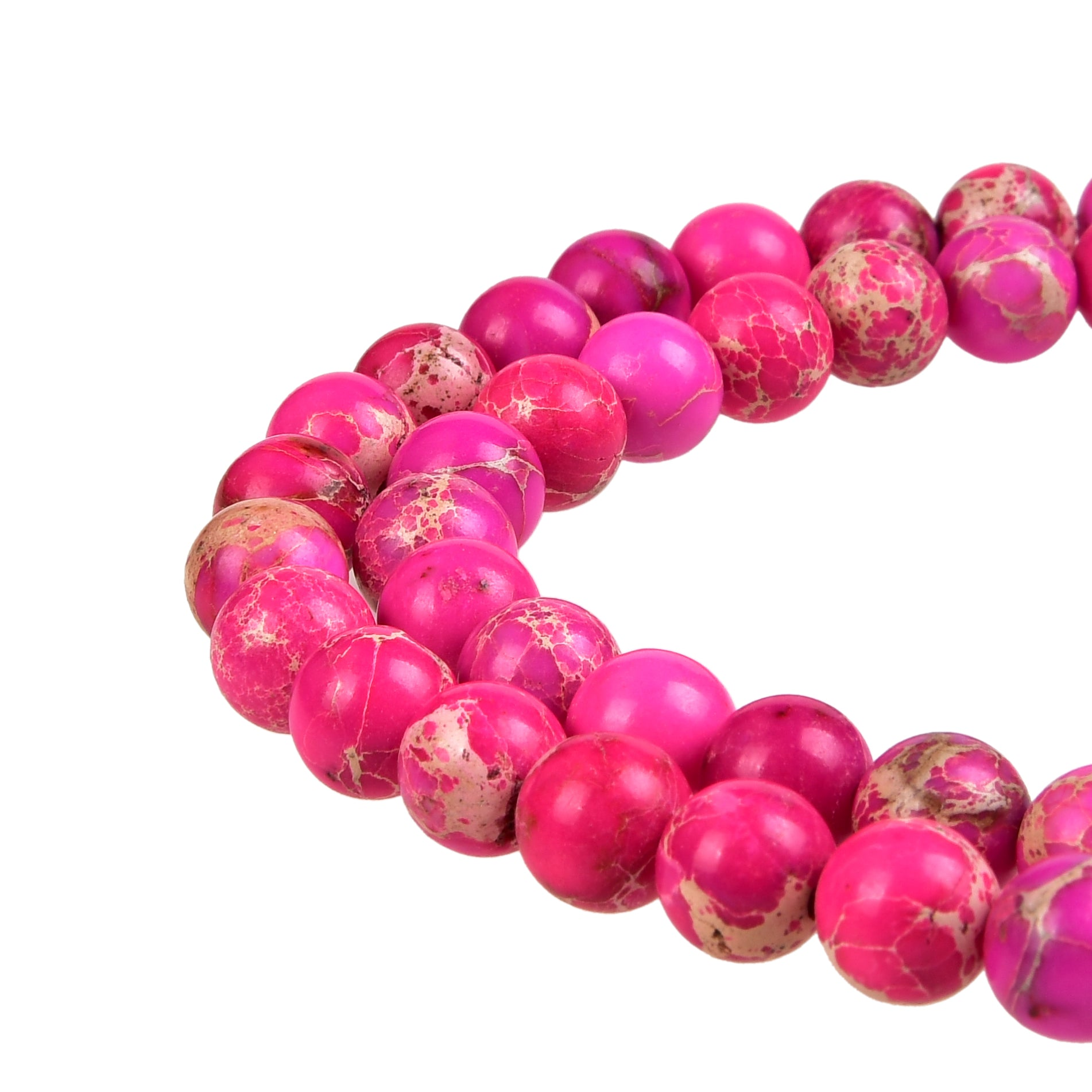 Hot Pink Imperial Jasper Gemstone Beads