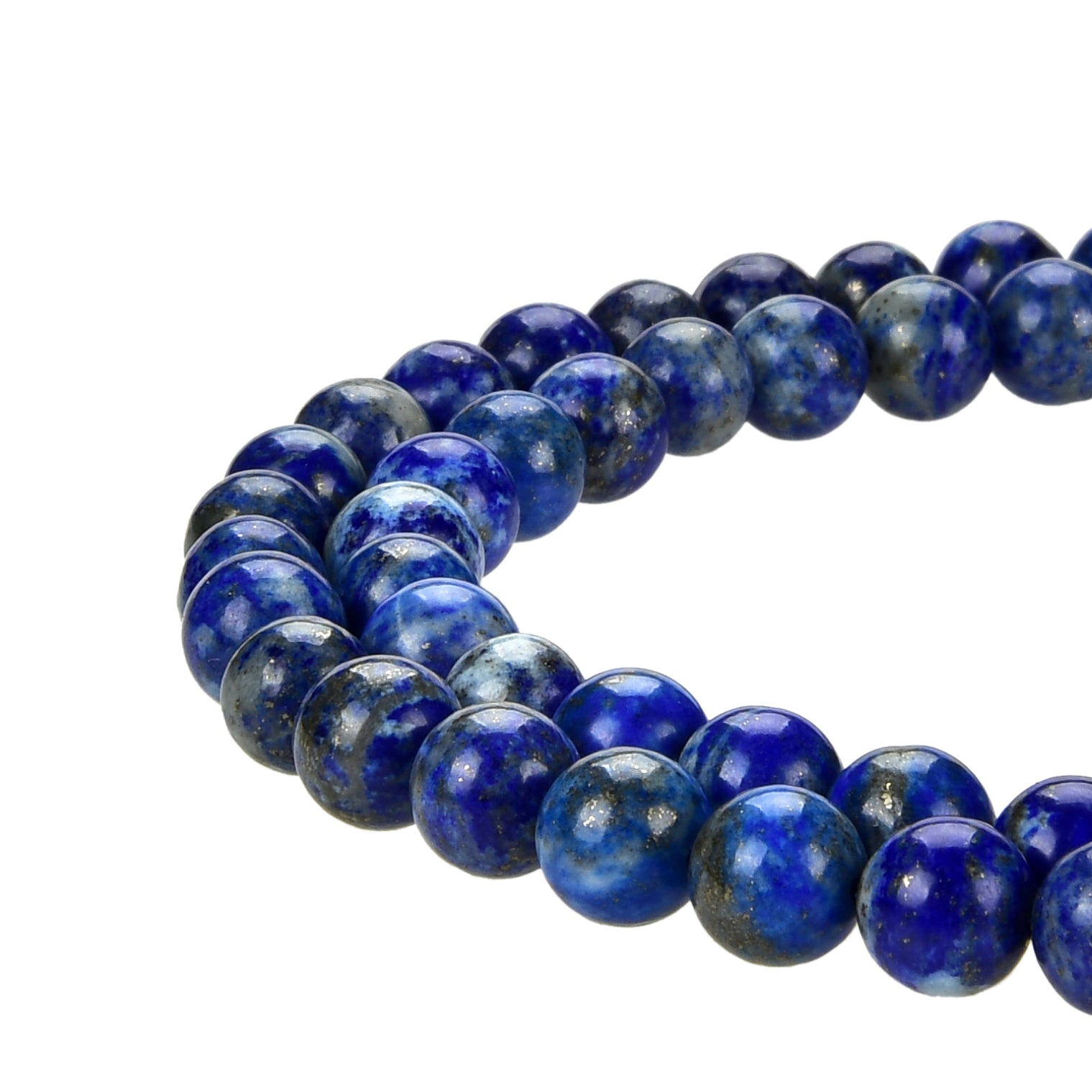 Lapis Lazuli Gemstone Round Loose Beads 8MM Approximate 15.5 inch