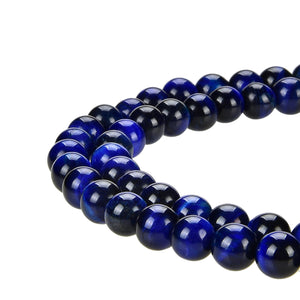 Blue Tiger Eye Gemstone Beads Round