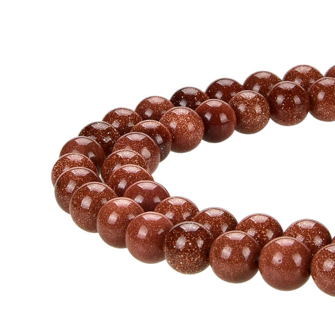 Natural Gold Sandstone Gold Stone Beads Round