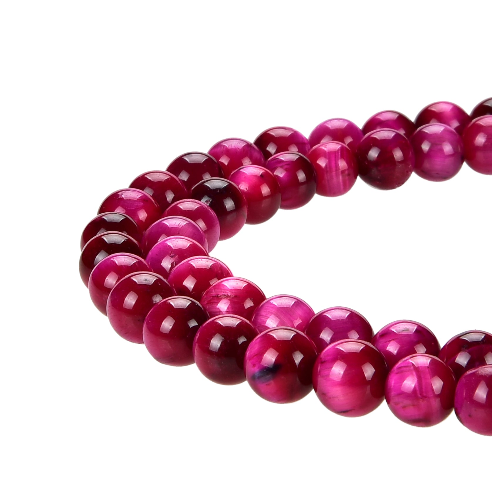 Red Tiger Eye Gemstone Beads Round