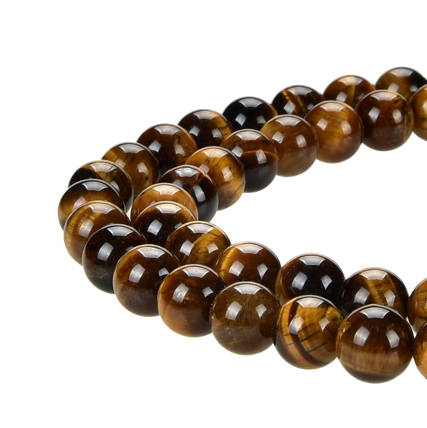 Yellow Tiger Eye Gemstone Beads Round