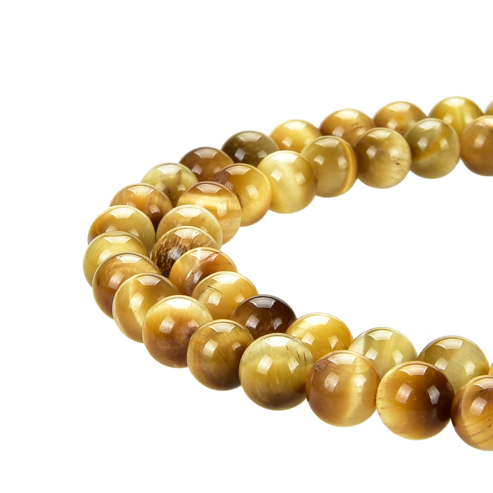 Honey Tiger Eye Gemstone Beads Round