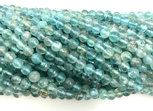 Natural Apatite Beads, Round Shape Apatite Beads, Apatite Smooth Beads