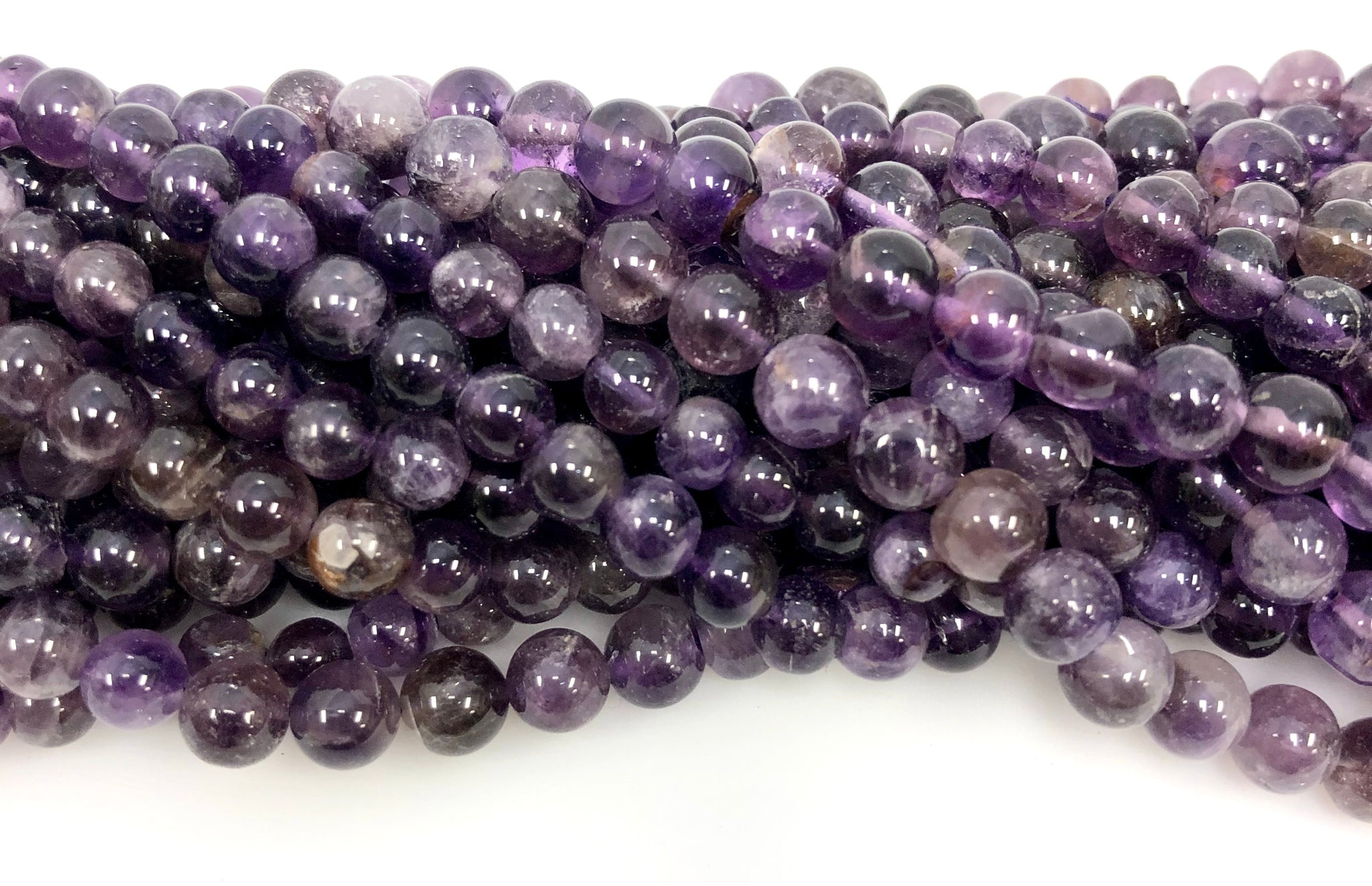 Natural Amethyst Beads, Round Shape Beads, Amethyst Smooth Beads