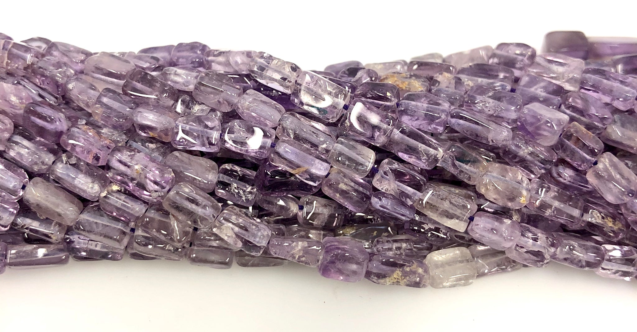 Natural Amethyst Beads, Square Shape Beads, Amethyst Smooth Beads