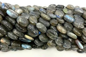 Natural Labradorite Beads, Smooth Beads, Oval Shape Labradorite  Beads