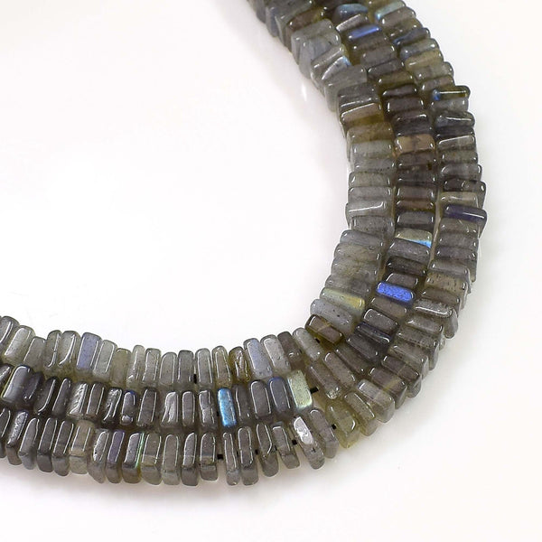 Natural Labradorite Gemstone Beads 6-7mm Heishi Square Shape Beads