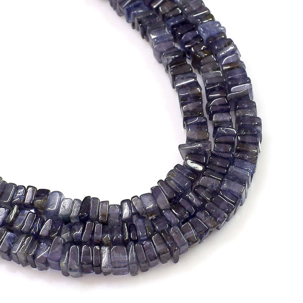 Natural Iolite Gemstone Beads 6-7mm Heishi Square Shape Beads