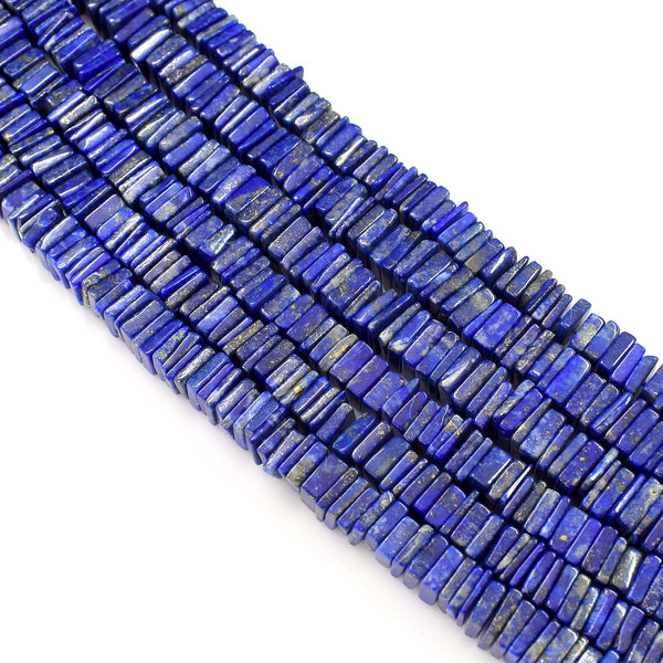 Natural Lapis Lazuli Gemstone Beads 6-7mm Heishi Square Shape Beads