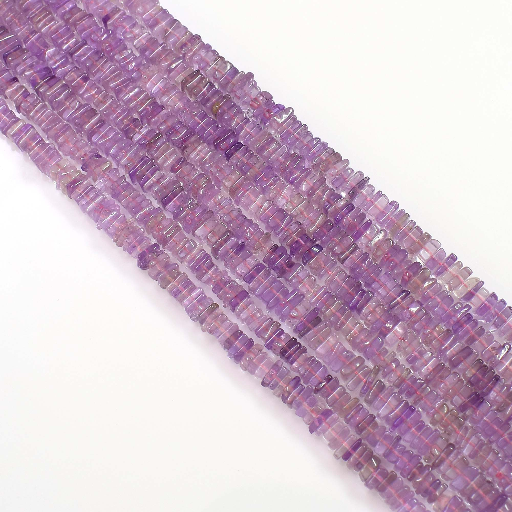 Natural Pink Amethyst Gemstone Beads 6-7mm Heishi Square Shape Beads